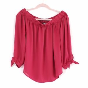 NWOT Express Stretch Top Tie Sleeves Blouse Top